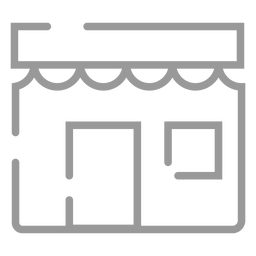 Stroke bakery shop icon