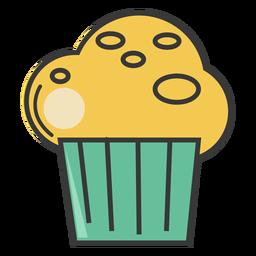 Magdalena de panadería de trazo