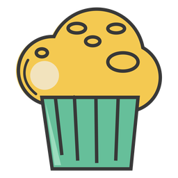 Streicheln Sie Bäckerei Cupcake