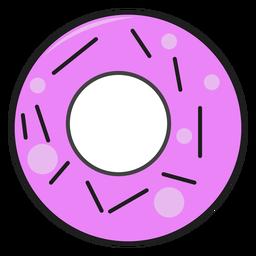 Donut de panadería de trazo