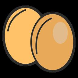 Huevos de panadería de trazo
