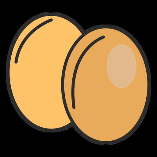 Stroke bakery eggs Transparent PNG