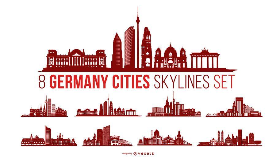 Pacote de skyline da cidade da Alemanha
