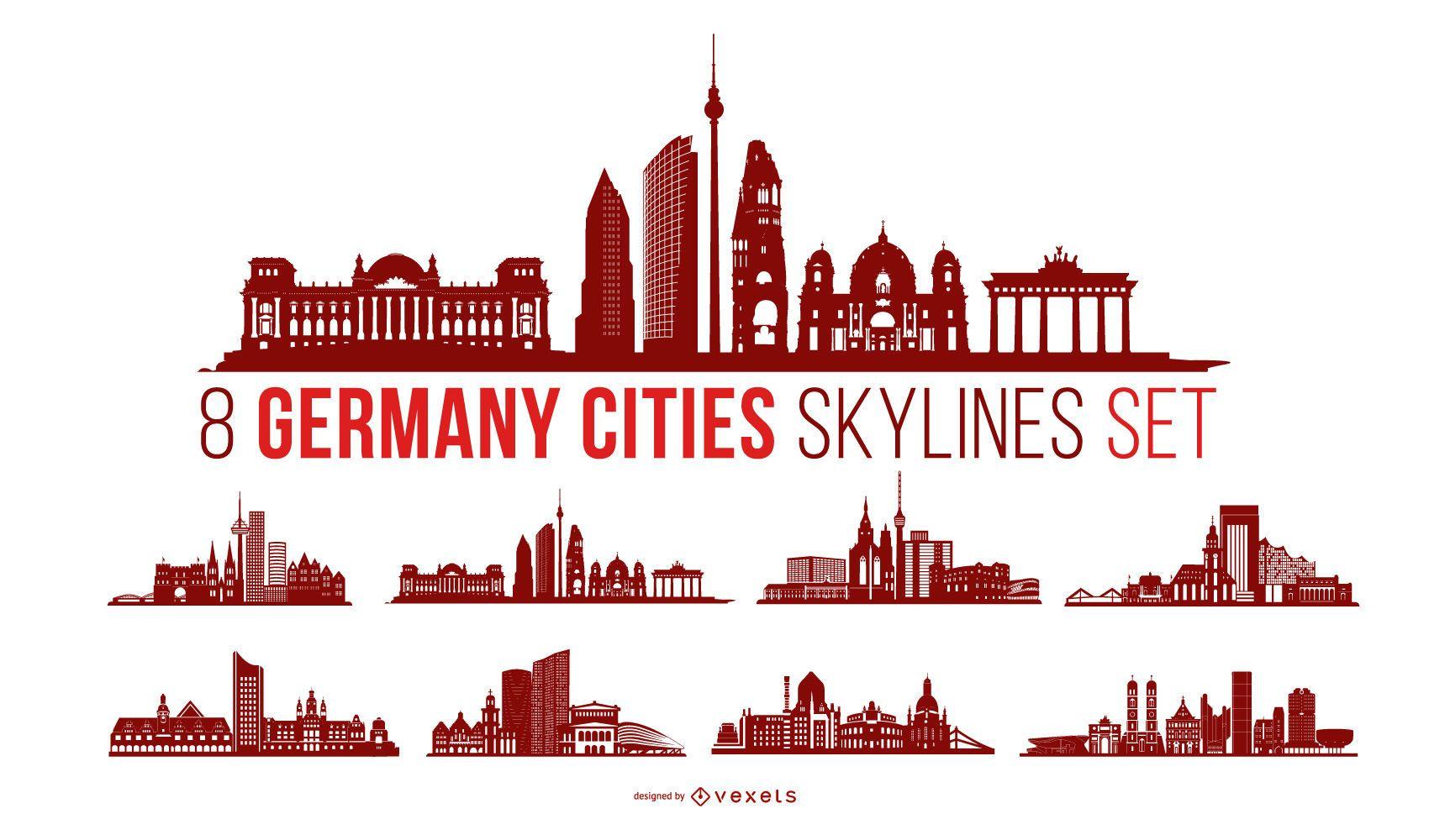Paquete de horizonte de la ciudad de Alemania