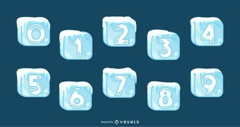 Conjunto de números de cubos de gelo