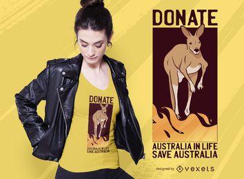 Diseño de camiseta Save Australia Donate