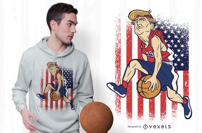 Design de t-shirt de basquete Trump