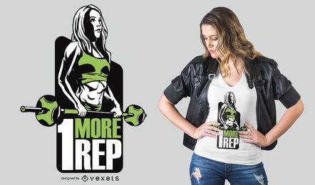 Langhantel Fitness Mädchen T-Shirt Design