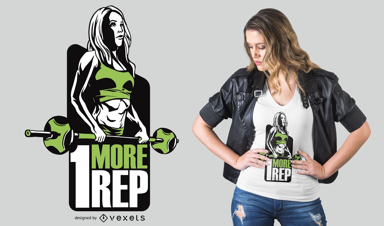 Barbell Fitness Girl T-shirt Design