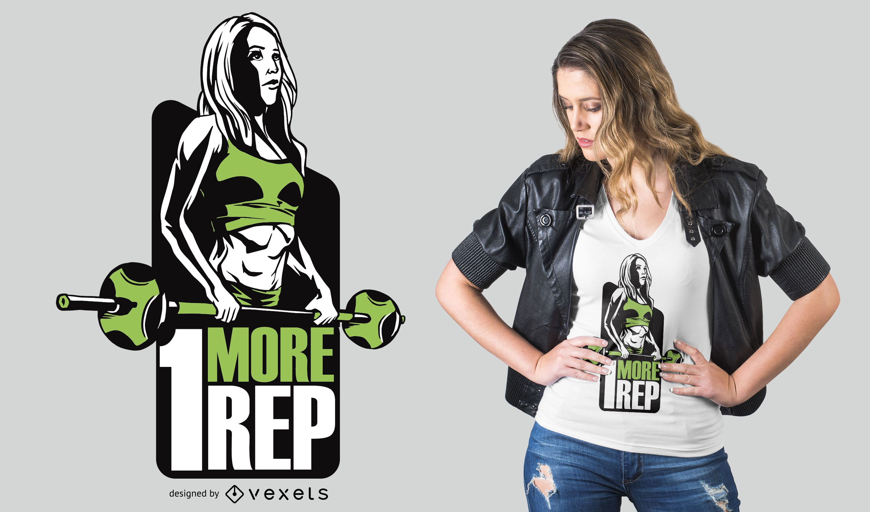Diseño de camiseta Barbell Fitness Girl