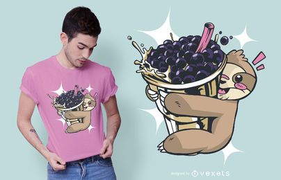 Sloth bubble tea t-shirt design