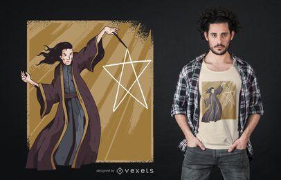 Design de camisetas com pentagrama mago