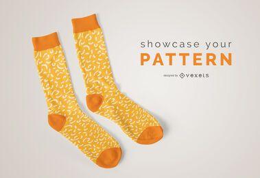 Maquete de padrão de meias