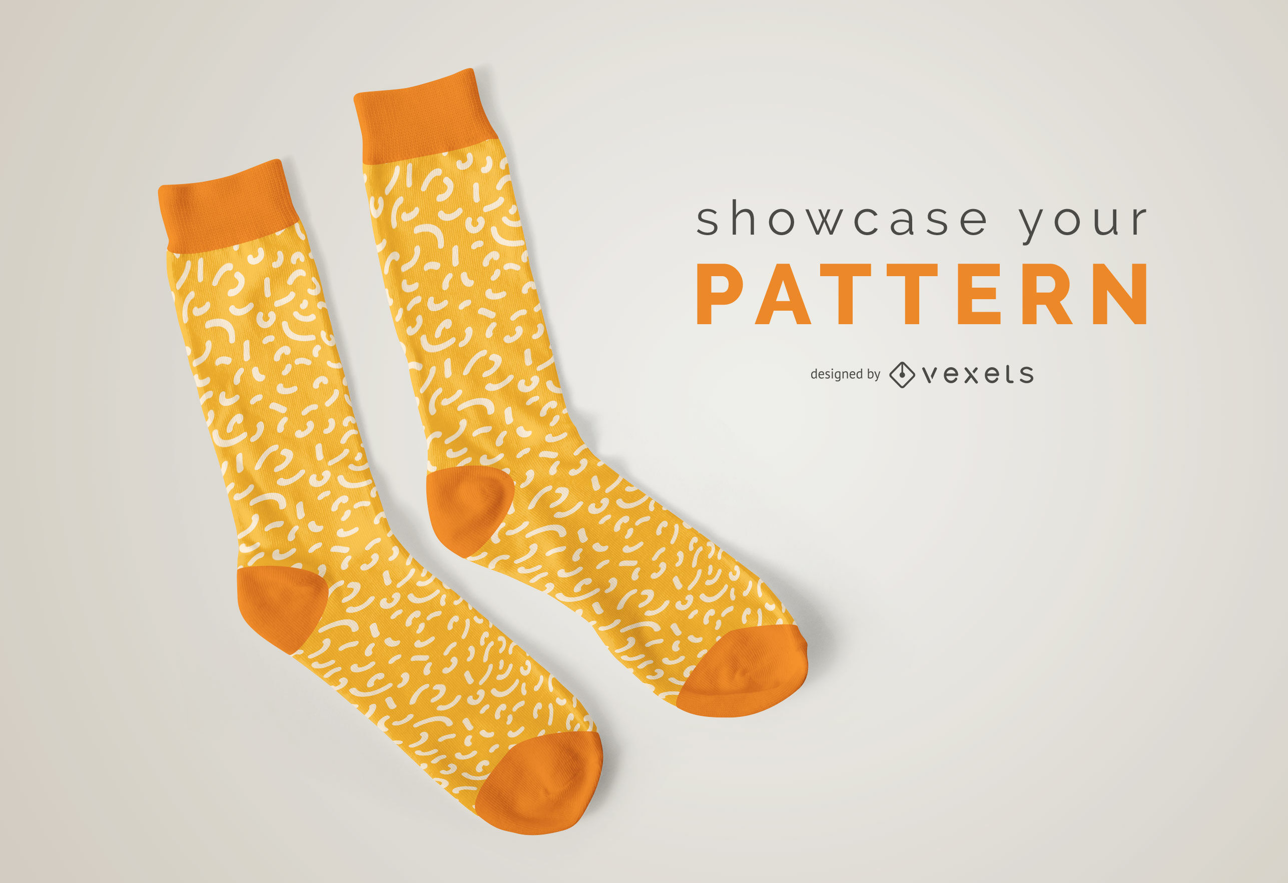 Socks pattern mockup
