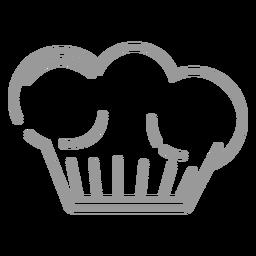 Icono de sombrero de cocina de trazo