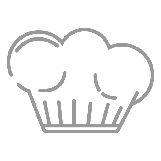 Stroke cooking hat icon Transparent PNG