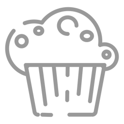 Icono de cupcake de trazo