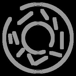 Icono de rosquilla de trazo