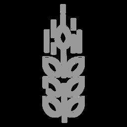 Icono de trigo de trazo