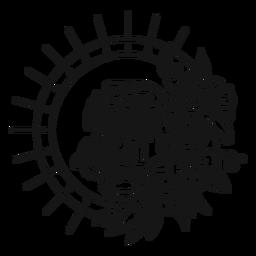 Tatuagem de traço oldschool tigre