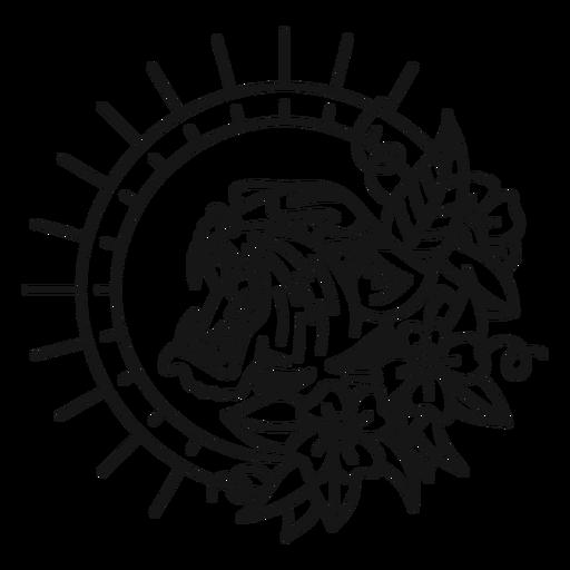 Tatuagem de traço oldschool tigre Transparent PNG