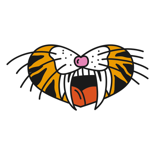 Tatuaje de tigre oldschool
