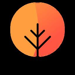 Árbol redondo icono de otoño