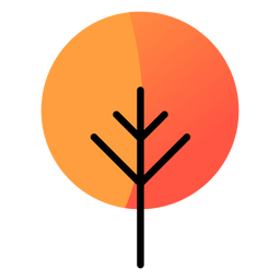 Tree round autumn icon