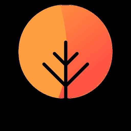 Tree round autumn icon Transparent PNG