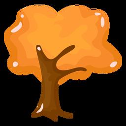 Árbol otoño plano