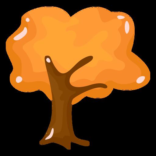 Tree autumn flat Transparent PNG