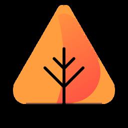 Icono de otoño de árbol