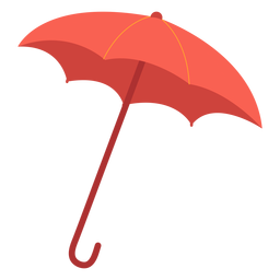 Ilustração de guarda-chuva vermelho
