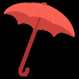 Ilustración de paraguas rojo