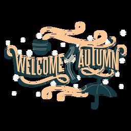 Bem-vindo letras de outono