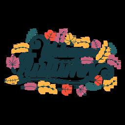 Bem-vindo letras de outono bem-vindo