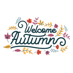 Welcome autumn lettering welcome