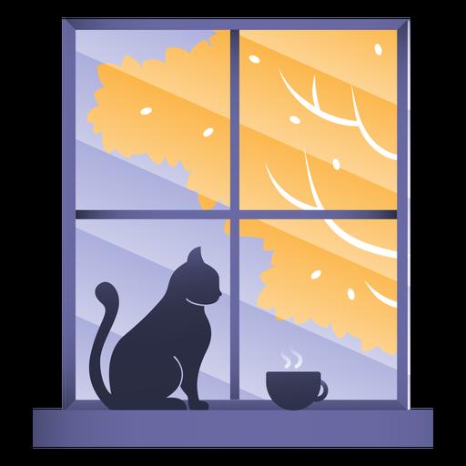 Window cat illustration Transparent PNG