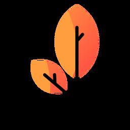 Icono de otoño de palo de madera