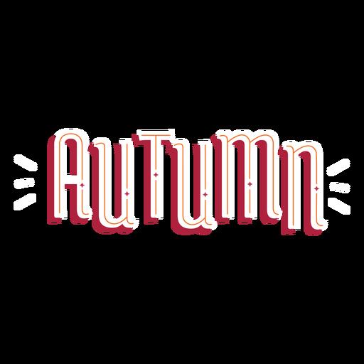 Letras de otoño de palabra