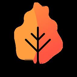 Icono de otoño de árbol amarillo