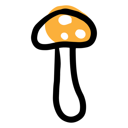 Yellow icon mushroom
