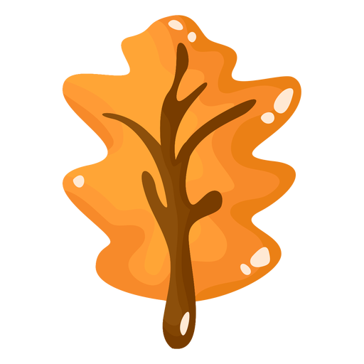 Yellow leaf autumn flat Transparent PNG