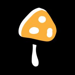 Yellow mushroom icon