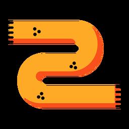 Icono de bufanda amarilla