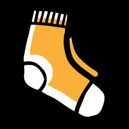Icono de calcetín amarillo