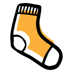 Yellow sock icon