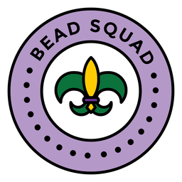 bead squad mardi gras colored