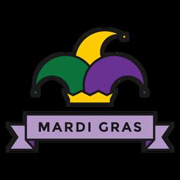 insignia del sombrero de mardi gras
