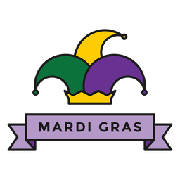 mardi gras hat badge
